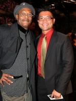 Me and Samuel L. Jackson at Fordham University Theater