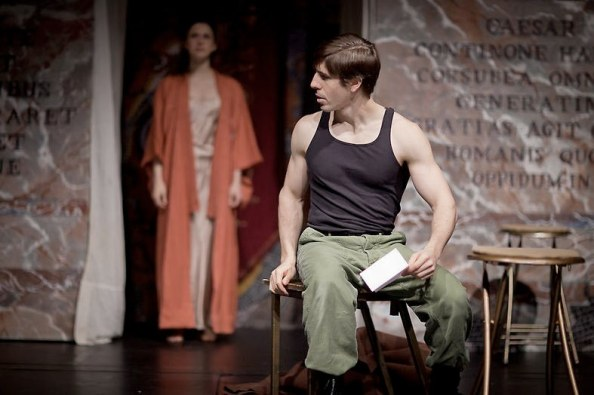 "Dan Lawrence in ""Julius Caesar"" at The Shakespeare Theatre of NJ  