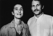 Pina Bausch and her husband Ronald Kay | Photo by William Yang