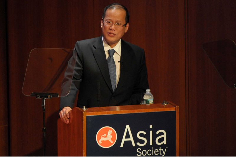 President Benigno S. Aquino III speaking at Asia Society in New York | Photo by RandyGener