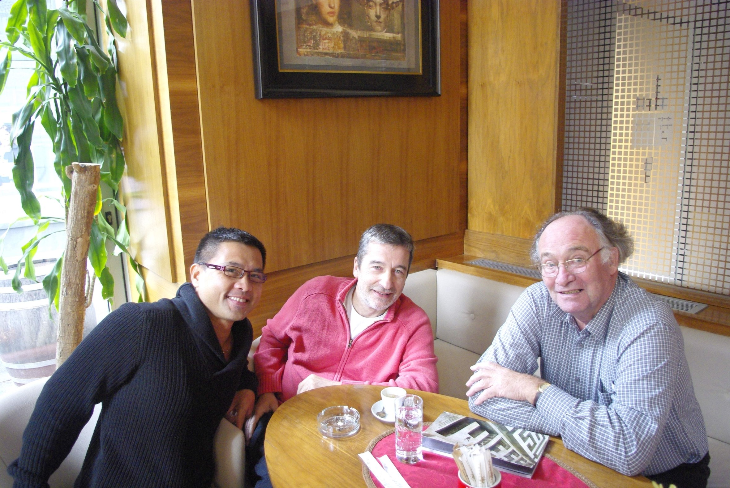 International critics Randy Gener (USA), Ian Herbert (UK) and Bojan Munjin (Croatia) deliberate in Sarajevo | Photo by Randy Gener