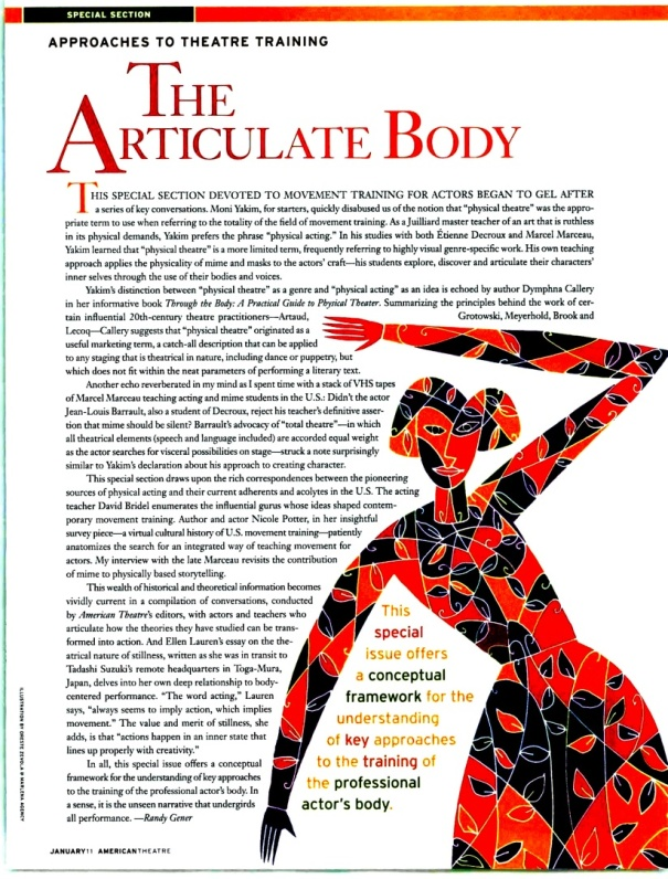 """Approaches to Training: The Articulate Body"" by Randy Gener"