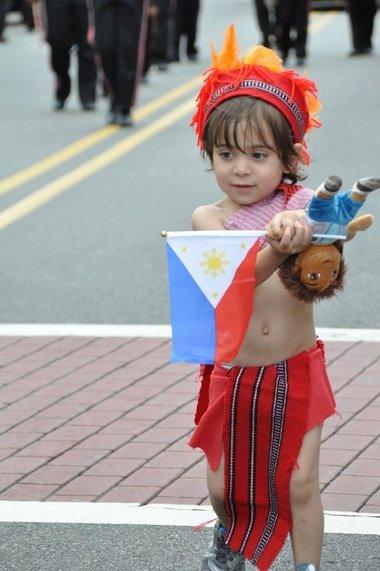 Young Fil-Am child celebrates 2011 Phil-Am Friendship Day | Photo by Richard J McCormack (Jersey Journal)