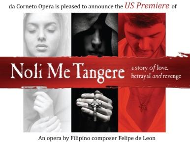 "Poster for ""Noli Me Tangere"" opera | KGB Productions and DaCorneto Opera's Chicago"