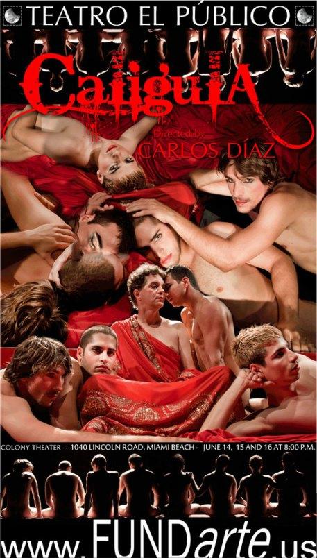 """Poster for Teatre El Public's """"Caligula"""""""