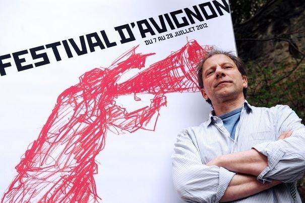 Simon McBurney at Festival D'Avignon | Photo by Anne-Christine Poujoulat