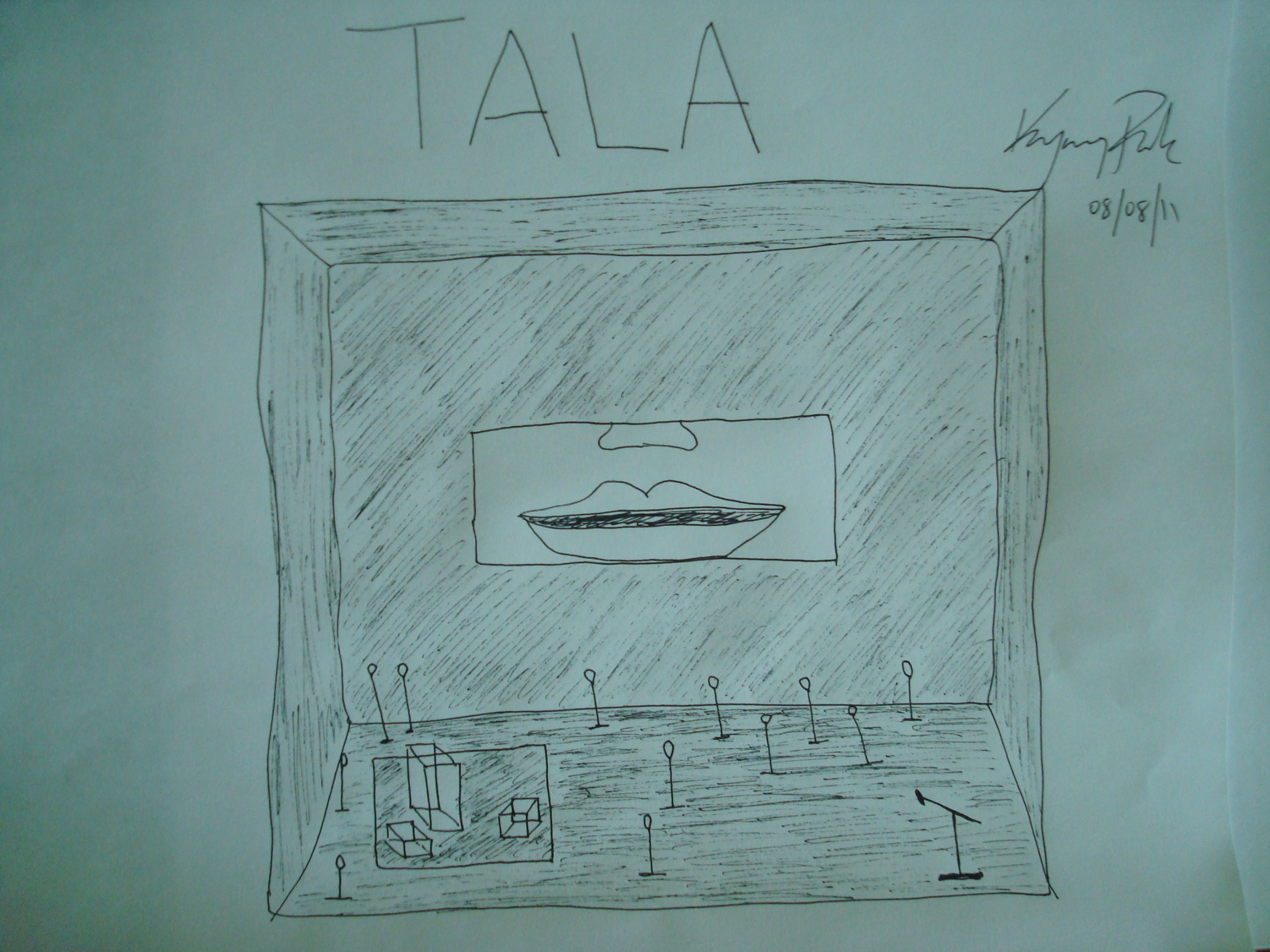 """Playwright Kyoung H. Park's sketch for his own play """"Tala"""" 