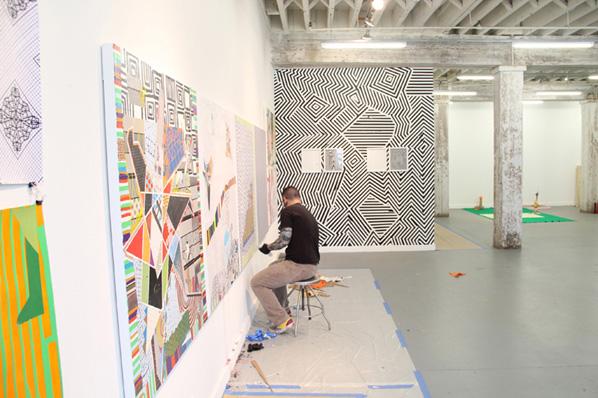 Brian Porray, artist-in-residence 2012 at Bemis Center in downtown Omaha, NE