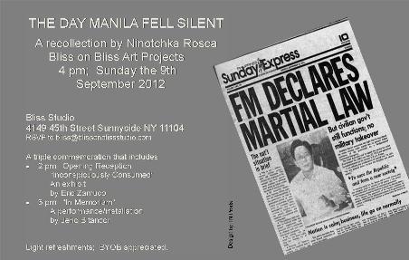 """The Day Manila Fell Silent,"" a salon-style talk by transnational writer Ninotchka Rosca,"