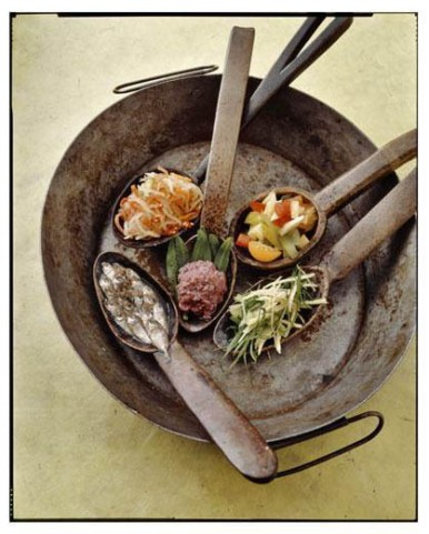 """Photo by Neal Oshima, designed by Chef Romy Dorotan. This photo is from the cookbook """"Memories of Philippine Kitchens,"""" by Amy Besa and Romy Dorotan"""