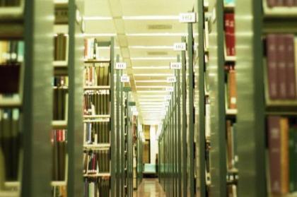 McHenry Library stacks at University of California Santa Cruz