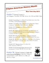 Fil-Am News | Calendar of activities for Filipino American history month of October 2012