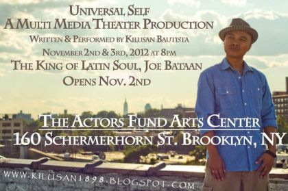 """Kilusan Bautista's solo show """"Universal Self"""" performs Nov. 2 and 3 in Brooklyn"""