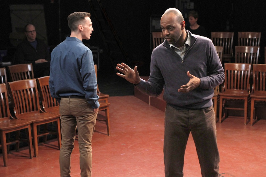"Brandt Adams and Godfrey L. Simmons, Jr. in ""Dispatches from (A)mended America"" 