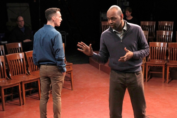 """Brandt Adams and Godfrey L. Simmons, Jr. in """"Dispatches from (A)mended America"""" 