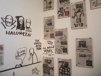 """Exit Strategy,"" Dan Perjovschi's third U.S. solo exhibition at Chelsea's prestigious Lombard Freid Projects"