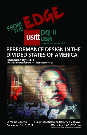 """Poster of """"From the Edge: Performance Design in the Divided States of America"""""""