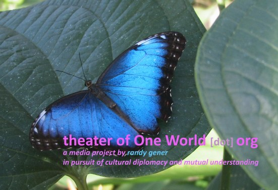 "Logo of ""in the theater of One World"""