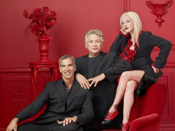 """Kinky Boots"" creators Jerry Mitchell, Harvey Fierstein and Cyndi Lauper"