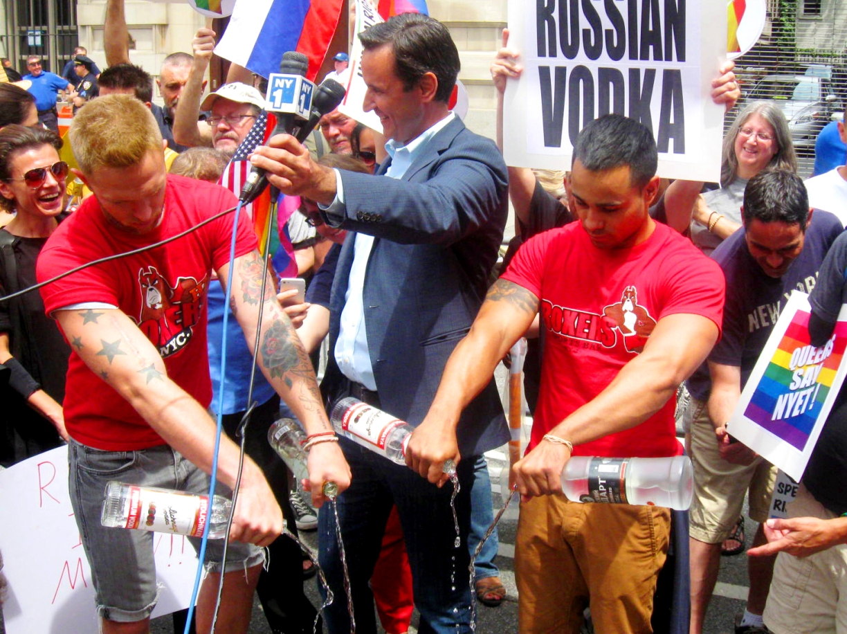 Vodka Dump in front of the Russian Consulate | Photo by Randy Gener