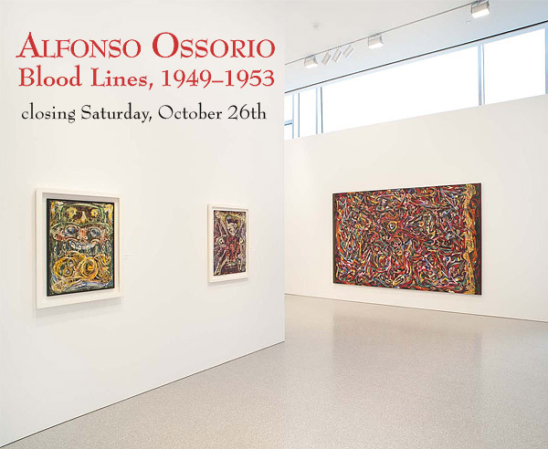 """Painter Alfonso Ossorio: """"Baby Collector,"""" 1950; """"Untitled,"""" c.1950; and """"Blood Lines,"""" 1953-54"""