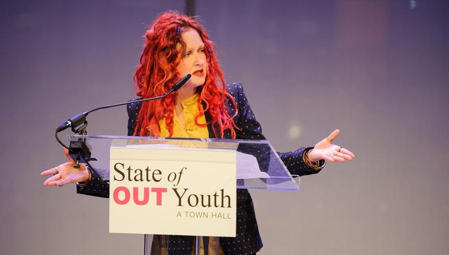 Cyndi Lauper at stateofoutyouth.org