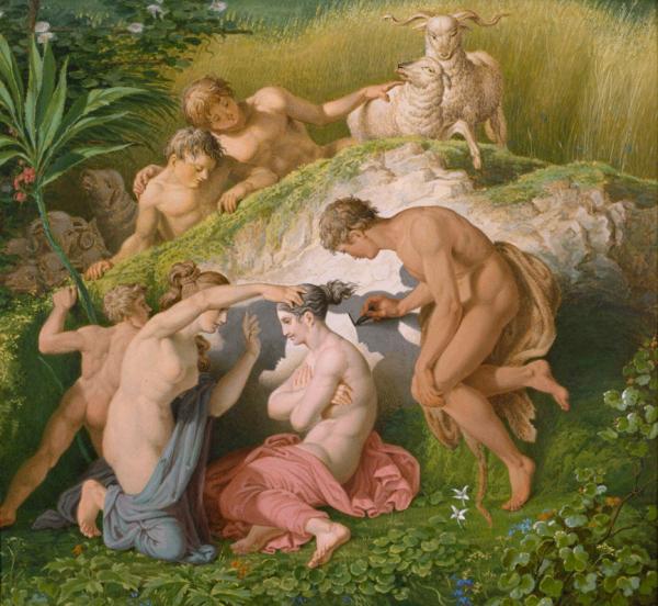 Karl Friedrich Schinkel, Origin of Painting, 1830