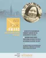 CAUSES | Finalist for 2013 Wai Look Award for Outstanding Service to the Arts
