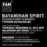 CAUSES | Typhoon Haiyan relief efforts worthy of your support: Filipino American Museum's Bayanihan Spirit and Purple Yam Restaurant's Sunday brunch