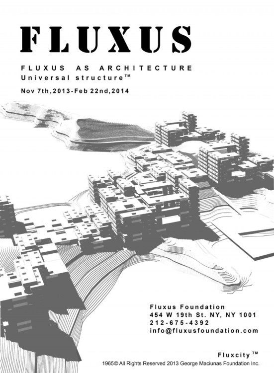 "Invitation to ""Fluxus as Architecture"" exhibition"