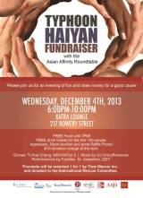 CAUSES | AAJA-NY holds Typhoon Haiyan relief fundraiser at Katra Lounge with Asian Affinity Roundtable