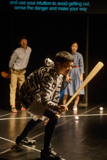 """Yoon Jae Lee, Neji Pijin and Sung Hee Wi in """"God Bless Baseball"""" by Toshiki Okada 