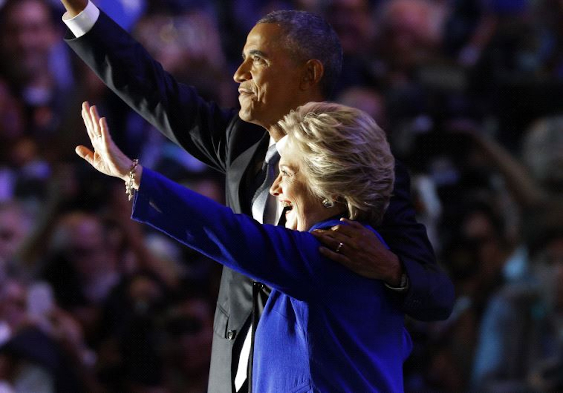 US President Barack Obama and Hillary Clinton. (REUTERS)