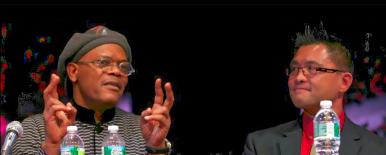 Me and Samuel L. Jackson at Fordham University Theater
