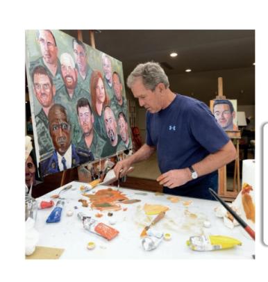 George W. Bush paints