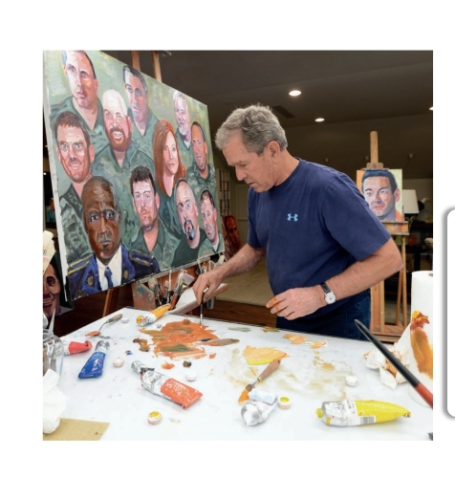 George W. Bush paints